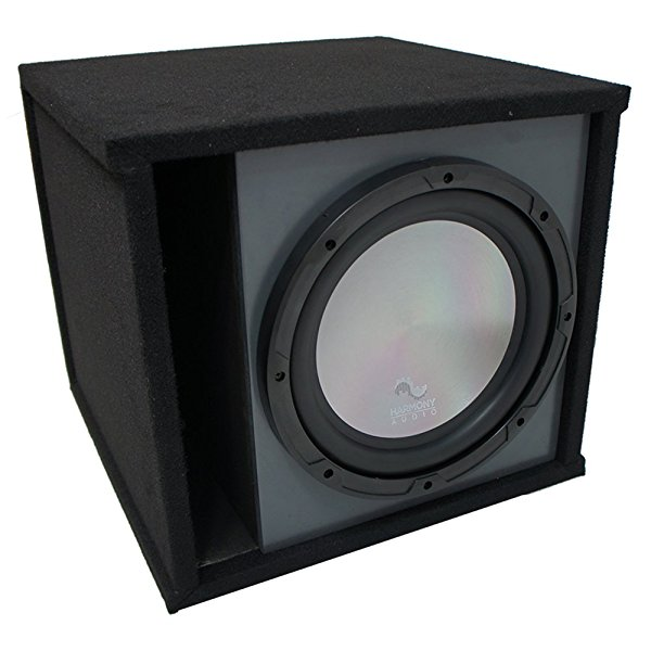 Universal Car Stereo Paintable Ported 10' Harmony A102 Sub Box Enclosure