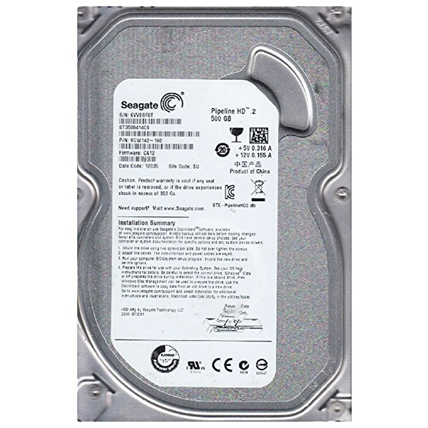 Seagate Pipeline HD 500 GB, Internal, 5900 RPM, 3.5' (ST3500414CS) Hard Drive