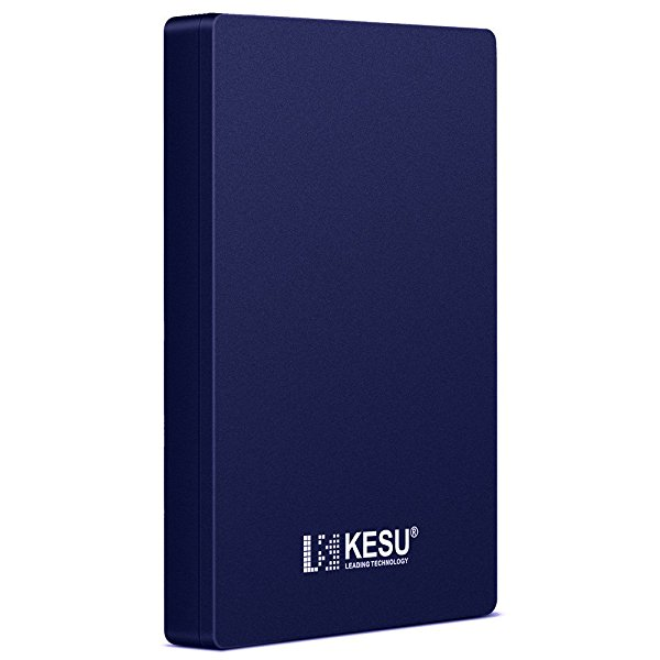 2.5' 250GB Portable External Hard Drive USB3.0 with Durable Military-grade Shockproof, Anti-Pressure, Waterproof and Slim Pocket-Sized Enclosure for PC, Mac, Desktop, Laptop, Xbox, PS3, PS4-Blue