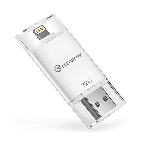 Elecrow 32GB iPhone USB Flash Drive External Storage Memory Expansion for iPhone 5, 5s, 5c, 6, 6 Plus, 6s, 6s Plus 7 7Plus iPads iPods Computers