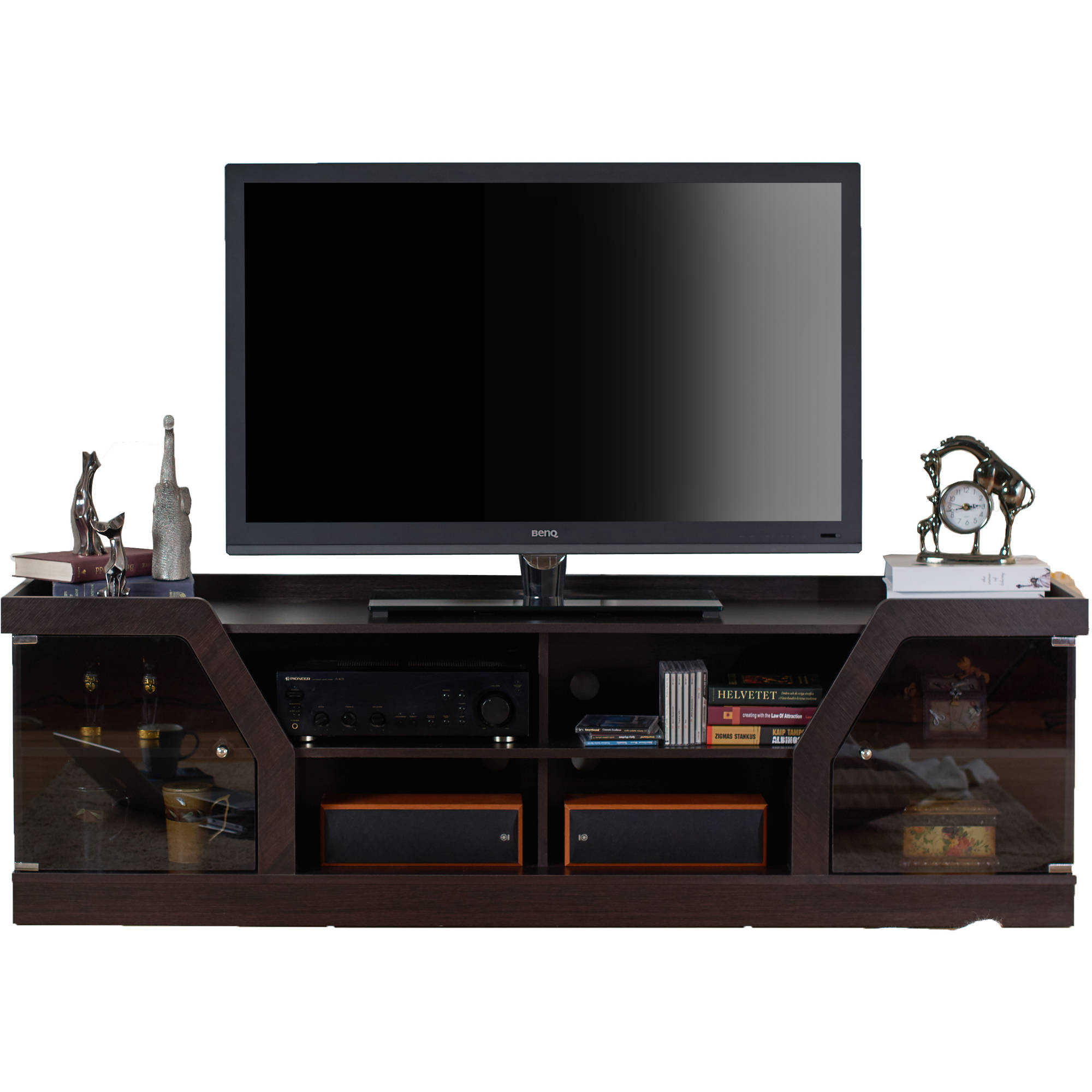 Furniture of America Faullin Contemporary TV Stand, Espresso