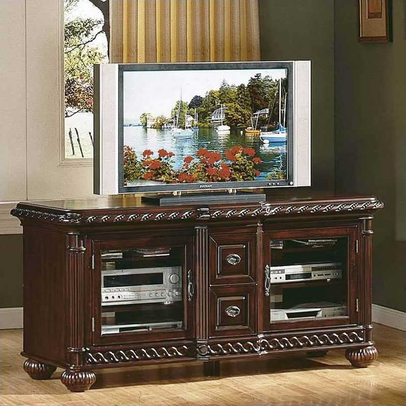 Steve Silver Company Antoinette TV Stand in Cherry