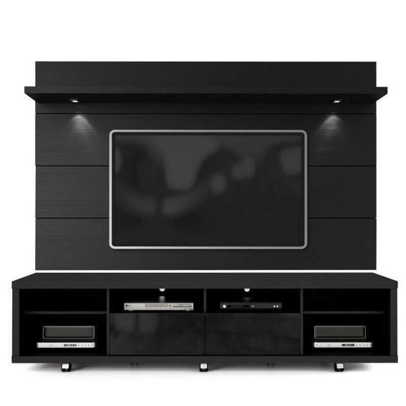 Bowery Hill 2.2 Series 85' TV Stand and Panel in Black