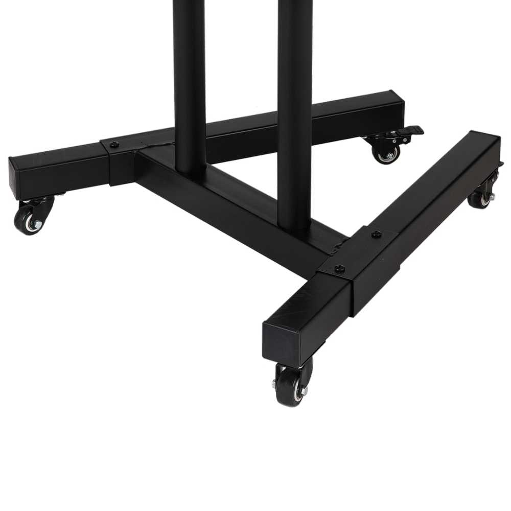 Homegear Portable TV Stand with Height/Tilt Adjustable Universal Mount on Wheels