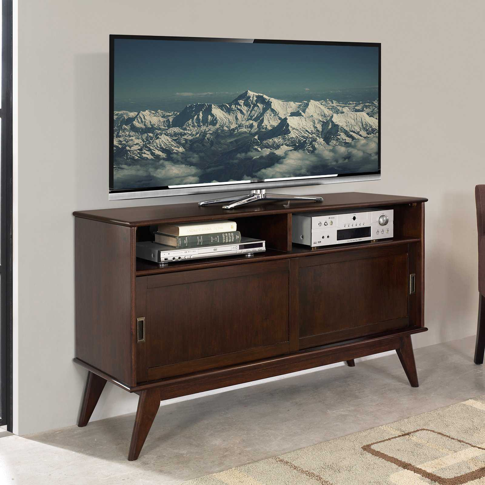 Simpli Home Draper Mid Century Medium TV Media Stand