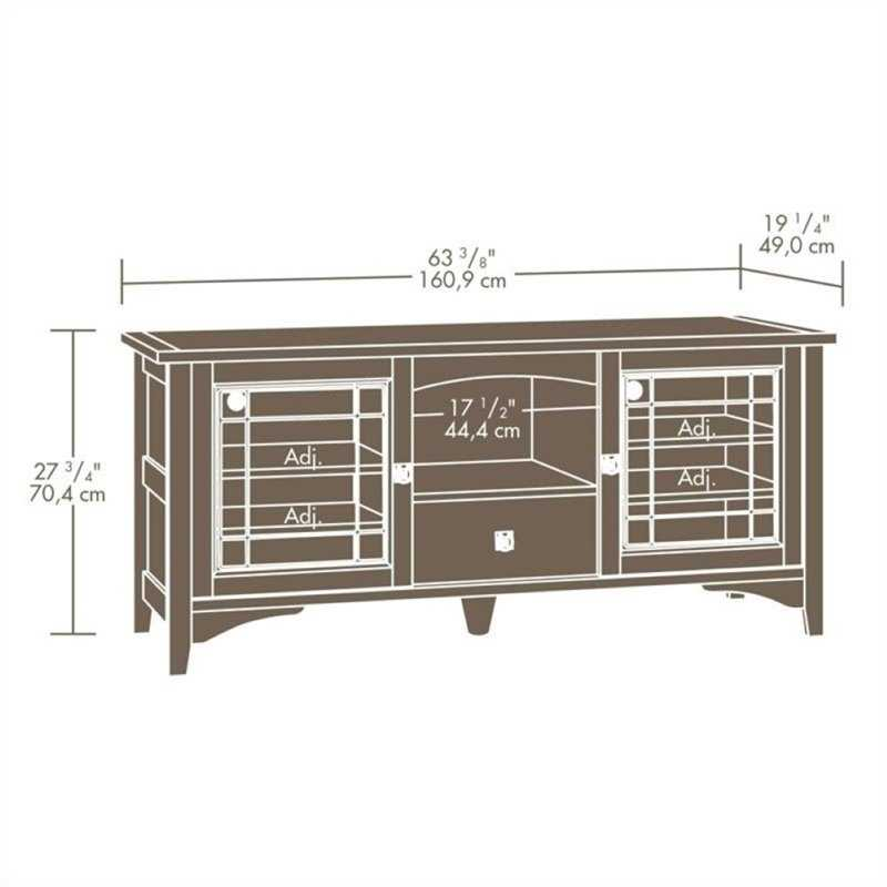 Pemberly Row Entertainment TV Stand in Abbey Oak