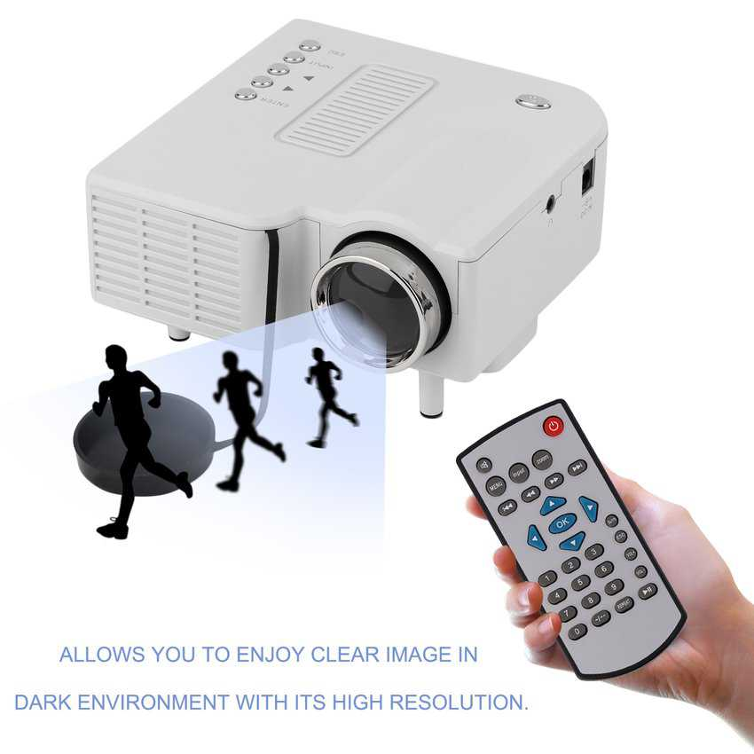 Mini Home Theater Projector, Multimedia Video Projector Support 1080P HDMI USB SD Card VGA AV Home Cinema TV Laptop Game iPhone Android Smartphone with HDMI Cable