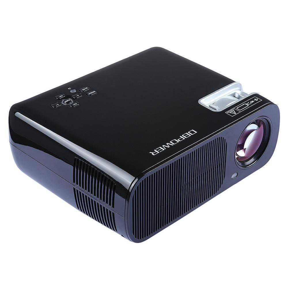 Black 2300Lumen HD 3D LED Portable Projector Home Cinema Theater Mini Projector VGA USB AV HDMI Input