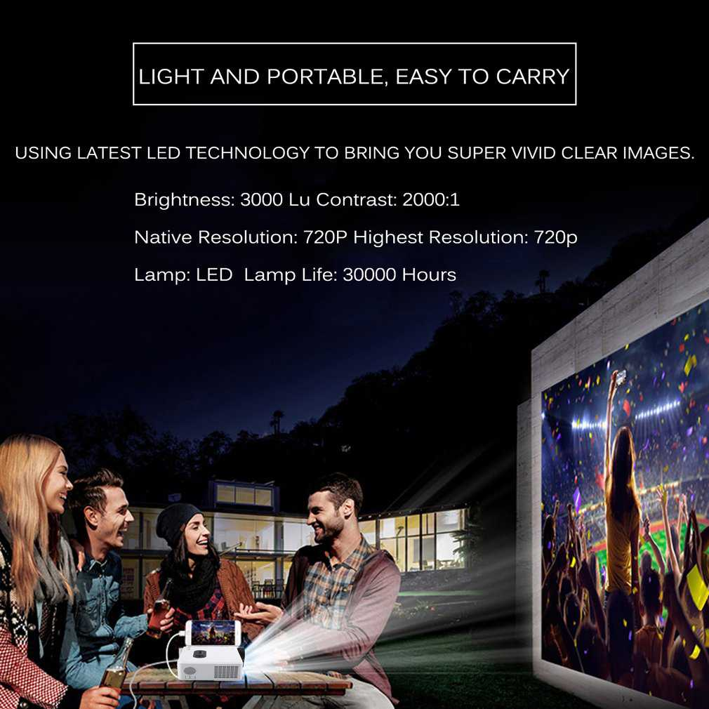 T-Mack Hot sale 720P HD WIFI Business Intelligent Model LED Video Home Cinema Projector For PC